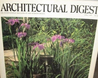 1986 April Architectural Digest Magazine Fine Interior Design Home Decor Architecture - 1980's High End Luxury Ads, French Houseboat Vintage