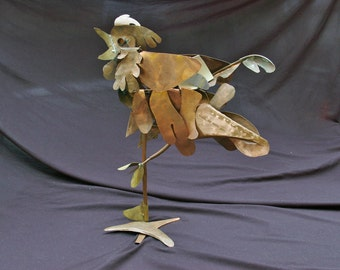 Morning Rooster Copper Sculpture