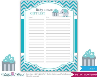 Boy mustache guest gift list guest sign in sheet card for boy elephant guest gift list guest sign in sheet card for baby shower birthday negle Image collections