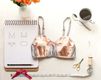 Vintage Style Pin Up Bra Sewing Pattern Ohhh Lulu 1311 Lili Bralette Sewing Pattern