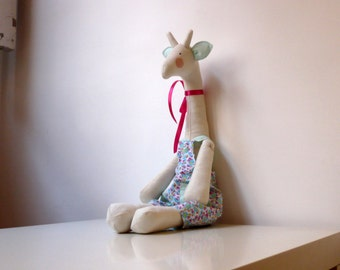 Stuffed Giraffe Plush - Softie Cute Giraffe Toy - Nursery Art - Handmade Giraffe Toy - Child Friendly - Giraffe Gift