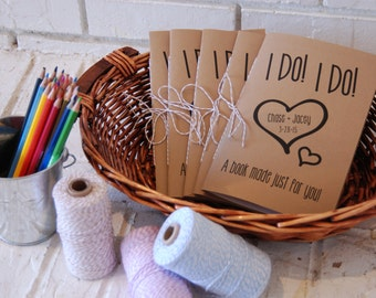 SET OF TWO Wedding Kid Activity Book Coloring Favors