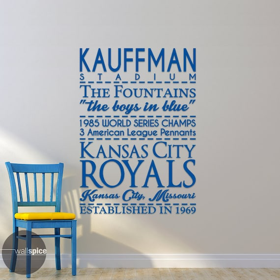 Kansas city royals baseball sports subway art by for Home decor kansas city