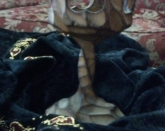 Vintage Hand Carved Candle Holder in Chalice Shape for Ritual and Ceremonial Uses
