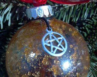 Glass Witch Ball, Witch Ball, Yule Witch Ball, Yule Ornament, Christmas Ornament, Christmas Decoration, Holiday Ornaments, Christmas Tree