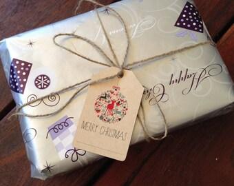Printable Christmas Gift Tags - Vintage Design