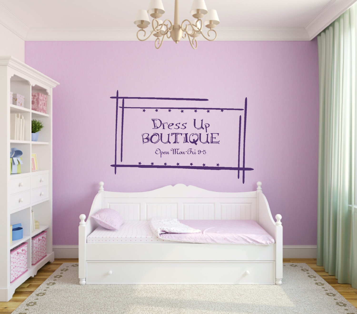 girl bedroom decal dress up boutique by pacificbeachboutique