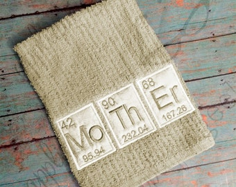 Periodic Table Mother Applique Embroidery Design