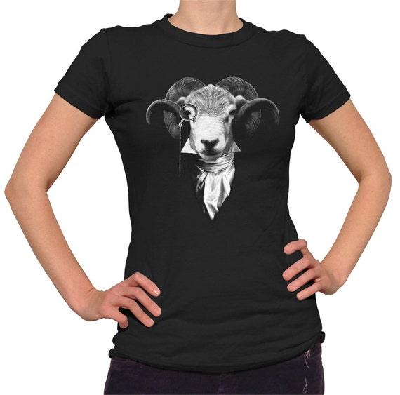 Steampunk goat t shirt mens and ladies sizes small 3x for Men s shirt sizes explained