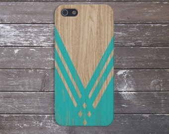 Teal Chevron x Wood Design Case for iPhone 6 6 Plus iPhone 7  Samsung Galaxy s8 edge s6 and Note 5  S8 Plus Phone Case, Google Pixel