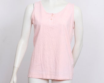 Pastel pink tank top, singlet, sleeveless, summery, 80s, 90s, VINTAGE wholesale ID:5390