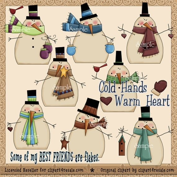 Cold Hands Warm Heart Clipart Snowman By TedandFriendsClipart