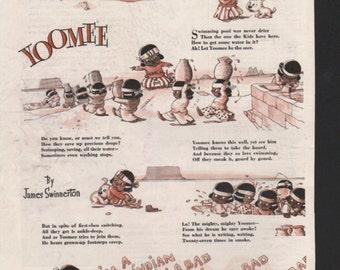 """Original Good Housekeeping cartoon """"Yoomee"""" by James Swinnerton 1930s, 8x11 in. - Kids232"""