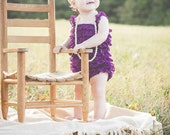 Baby girl first birthday outfit-Lace baby romper set-Girls Lace Romper set- Baby Romper-Purple petti romper, Baby girl purple 1st birthday