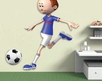 Wall decals soccer player A425 - Stickers footballeur football A425