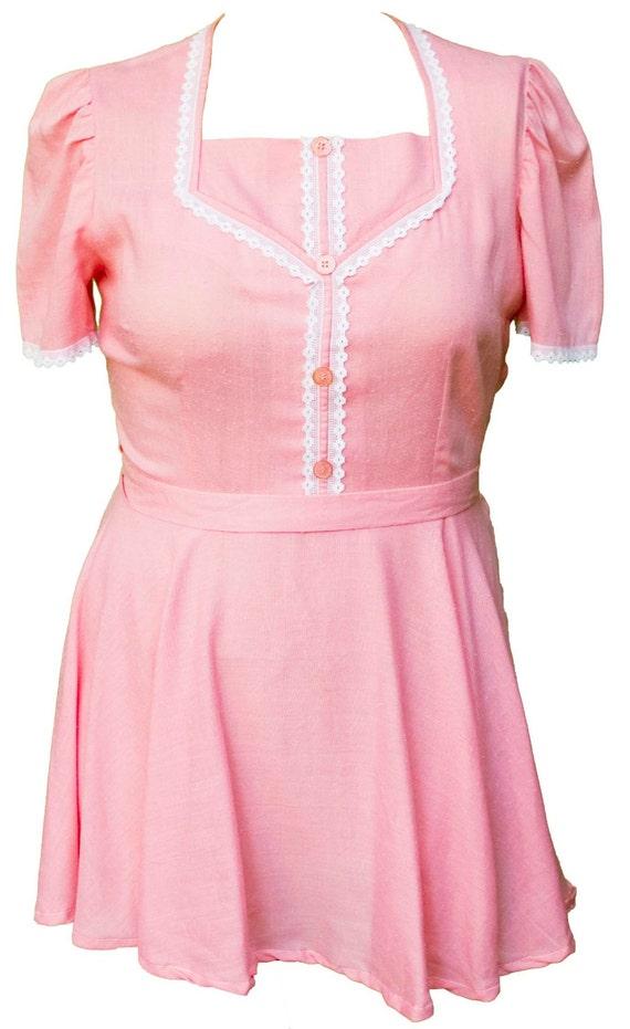 Pink Waitress Uniform 16