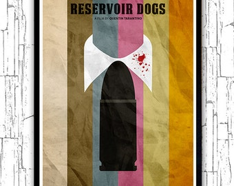 Quentin Tarantino Minimalist Movie Poster - Reservoir Dogs