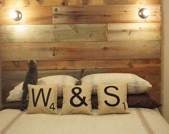One Scrabble Tile Pillow Cover 18inch FREE SHIPPING!