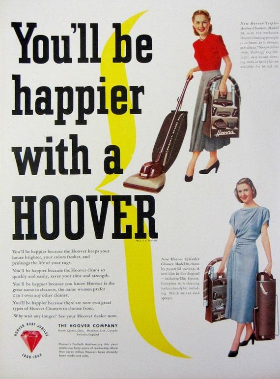 1948 Hoover Vacuum Cleaner Vintage Advertisement Laundry Room