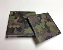 Camo Coasters - Camo Decor - Camouflage Decor - Camoflauge - Father's Day - Drink Coasters - Tile Coasters - Ceramic Coasters - Table Coaste