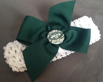 New York Jets Green Bow Headband