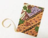 Beaded Fabric Passport Case - Peranakan Batik Fabric - Travel Accessories