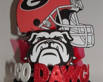 Georgia Bulldogs 3D Centerpiece or Cake Topper! GO DAWGS!