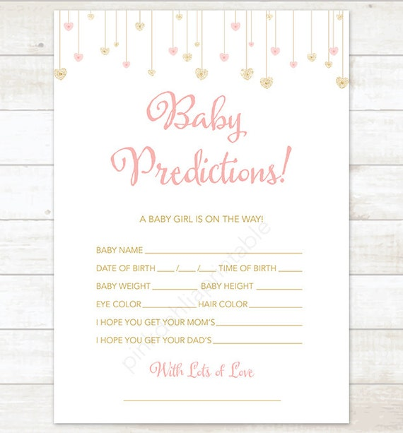 Baby Predictions Printable Star – Daily Motivational Quotes