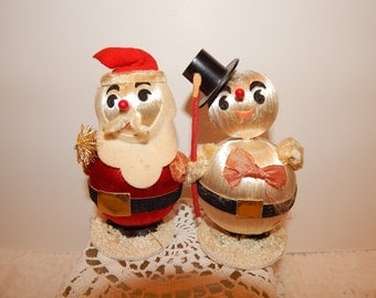 Santa and snowman Christmas decoration