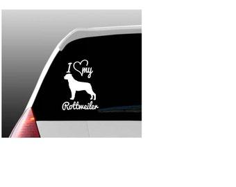 I Love My Rottweiler/Rottweilers Car Window Decal