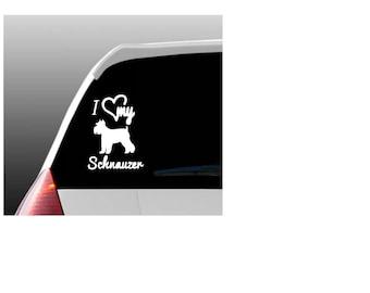I Love My Schnauzer/Schnauzers Car Window Decal