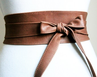 Distressed Brown Sash Belt | Wedding Belt | Leather Bridal Belt | Rustic Wedding | Country Wedding | Bridesmaid Belt | Plus Size belt