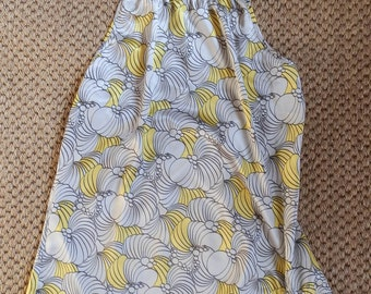 Vintage Grey and Yellow Satin Halter Neck Top Size Small/Medium
