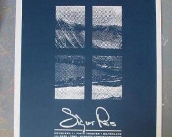 Sigur Ros Hollywood 2007 Concert Poster Heima Silkscreen Original