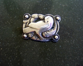 Georg Jensen Sterling Early Petite Dove Brooch #111