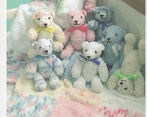 Knitting Pattern For Teddy Bear Baby Blanket : Popular items for pattern for girls on Etsy