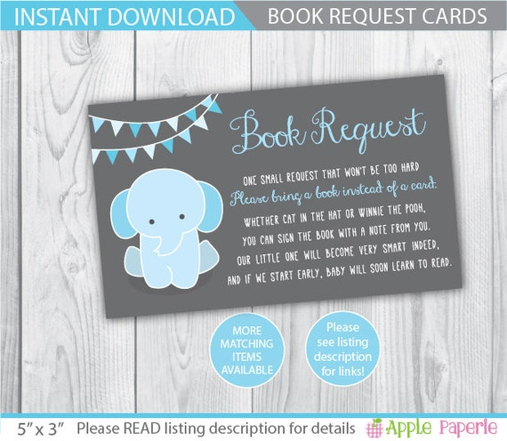 baby shower book request bring a book instead of a card on etsy