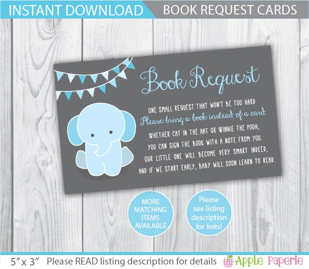 In Lieu Of A Card Bring A Book Baby Shower Part - 44: Baby Shower Book Request . ?zoom