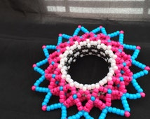 3D Kandi cuff Pink & Blue