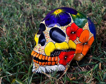 Sugar Skull Day of the Dead HandMade Sugar Skulls Ceramic Skull Mexican Skull Decoration MADE TO ORDER