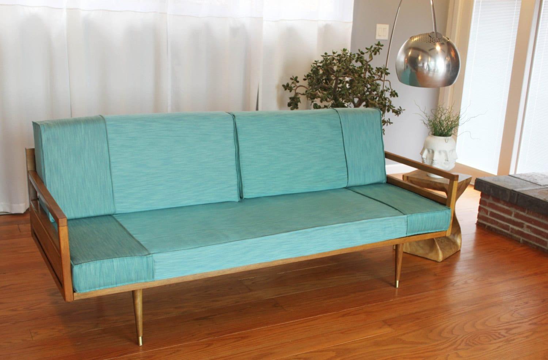 Mid Century Wood Frame Sofa - J-ole.com