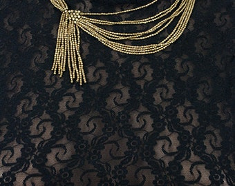 Tribal Ethnic Boho beaded brass necklace (0005)
