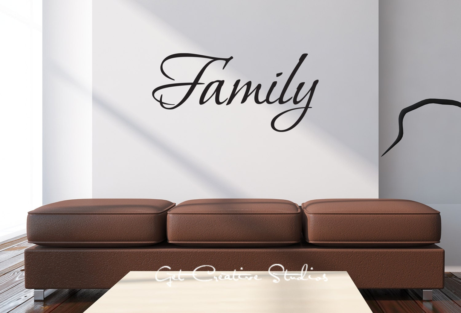 Wall Writing Decor Family Wall Decal Home Decor Sticker Text Wall Art Script