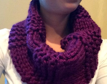 Chunky and Warm Hand Knit Cowl