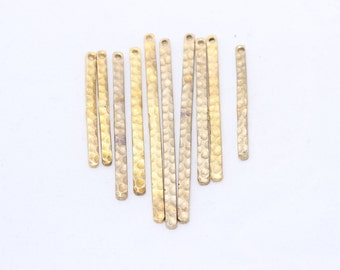 5 Pcs (30,38,48) Raw Brass Bar, Stamping Bar , Connector Bar , Bar Necklace, Hammered Bar, Bar link , SOM