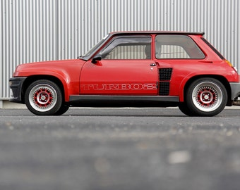 Poster of Renault 5 Five Turbo 2 T2 Classic Hot Hatch HD Print