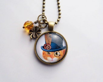 Cat top hat etsy for Cat in the hat jewelry
