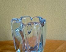 Orrefors Sweden Vicke Lindstrand Stella Polaris Scandinavian Signed Art Glass Mid Century Modern