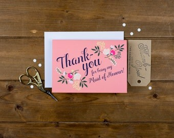 Maid of Honour Thank-You Card