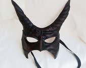 Demon mask devil leather horn costume cospaly larp renaissance wicca pagan magic burning man